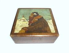 Seltene Handbemalte Holzdose Dose  Russland um 1900