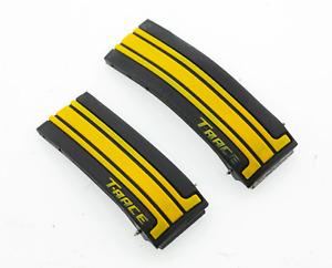 Genuine Tissot T-Race 21mm Lug Black & Yellow Rubber Deployment Watch Strap