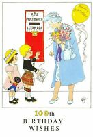 Postcard 100th Birthday Wishes HM Queen Elizabeth The Queen Mother 1900-2000 AF6