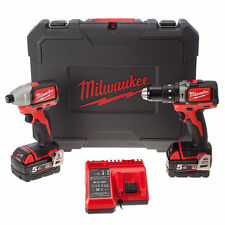 MILWAUKEE TRAPANO CON PERCUSSIONE + AVVITATORE IMPULSI M18BLPP2A-502C  BRUSHLESS