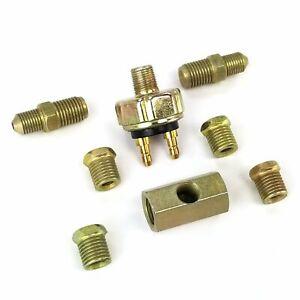 Universal Hydraulic Inline Fluid Pressure Brake Light Switch Kit GM Muscle Car