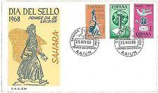 SPAIN: SAHARA -  POSTAL HISTORY - FDC COVER 1968 : Stamp Day - BIRDS DOVES