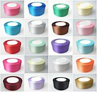 25 Meters Full Roll Double Sided Satin Ribbon fo Party Wedding Cake Decoration