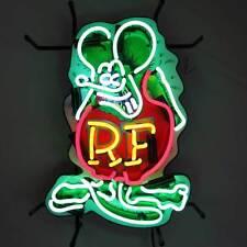 Retro Neon sign Rat Fink Ratrod Hot rod garage Ul shop light wall lamp Rf