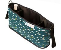 Keep Me Cosy™ Pram Organsier, Stroller Caddy Bag - Playful Plane (Deep Teal)