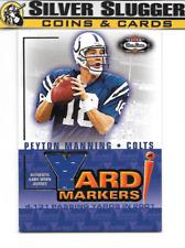 2002 Fleer Box Score Yard Markers Jersey Peyton Manning