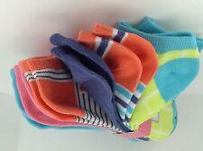 Women's LA DE DA Brand Flamingo BRIGHT COLORS No Show Socks - 6 Pack - $24 MSRP