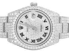 Rolex Midsize Datejust 178274 31mm Oyster Bracelet Full VS Diamond Watch 13.0 Ct