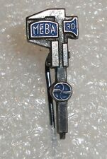 MEBA Croatian precision measuring tools Caliper 30th annivers vtg pin badge rare