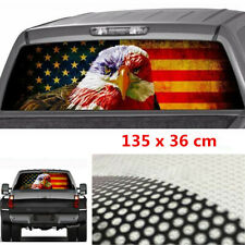 135x36cm Car Rear Window American Flag Eagle Pattern Decals Stickers Decoration