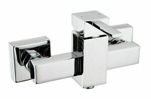 Einhebelmischer Dusche Mischbatterie eckig Duscharmatur Badezimmer