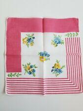 Vintage Ladies Hankie Pink Floral