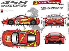 "[FFSMC Productions] Decals 1/32 Ferrari F-458 Challenge 2012 ""Momo"""