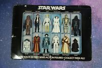 CARDBOARD INSERT~  VINTAGE STAR WARS VINYL COLLECTOR'S ACTION FIGURE CASE KENNER