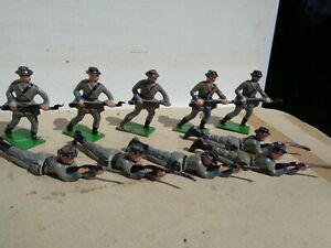 Johillco American Civil War Confederate infantry  hollowcast, 54mm lead soldiers