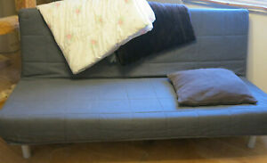 Ikea Beddinge Couch Bett Sofa blauer Bezug 140 x 200 cm