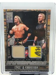 2002 Fleer WWF WWE All Access Edge Christian Dual Chair Relic!