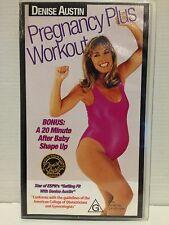 DENISE AUSTIN ~ PREGNANCY PLUS WORKOUT ~ VHS VIDEO ~ FREE POST