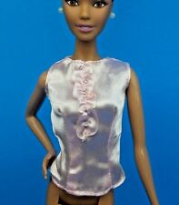 BARBIE THE LOOK MODEL MUSE SWEET TEA DOLL CLOTHES SATIN RUFFLE SHIRT BLACK LABEL