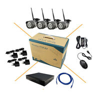 4CH 720P HD Wireless WIFI IP Camera System 8CH NVR CCTV Outdoor Security KIT