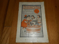 Antique Halloween Romps & Frolics Book Advertising Sears Roebuck Catalog