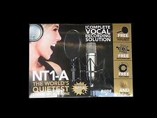 Rode NT1-A Cardio Condenser Microphone Kit with Shock Mount and Pop Filter NT1A