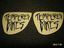 2 AUTHENTIC SMALL TEMPERED BMX BIKES BLACK FRAME STICKERS #27 / DECALS AUFKLEBER