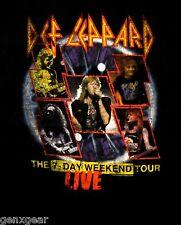 DEF LEPPARD cd lgo 7 DAY WEEKEND TOUR Official Babydoll SHIRT XL New adrenalize