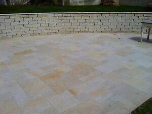 10 m² Bodenplatten 4 cm - Sandsteinplatten in Ihren Wunschmaßen, Sandstein