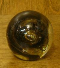 "Dynasty Gallery Handblown Art Glass #95280 SMOKY QUARTZ PAPERWEIGHT, 2"""