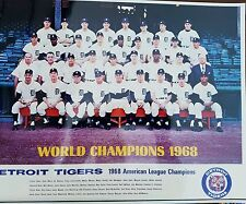 1968 Detroit tigers 11x14 team photos World Series Cham perfect condtion