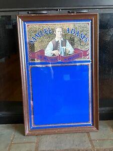 Samuel Adams beer sign large menu specials board mirror wood frame vintage KC7