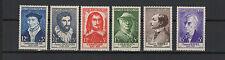 FRANCE 1956 célébrités du XVe au XXe siècles complète de 6 timbres neufs/T1862