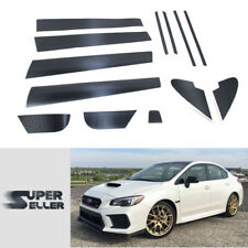 Matte Carbon A B C Pillar Mask Window Trim For Subaru WRX STI 4th Sedan 15-19