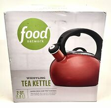 New in box Red Food Network 2-qt. Whistling tea kettle