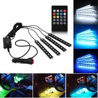 Luci LED per auto a 4 LED multicolore luci interne per auto a LED sotto il