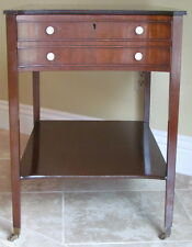 Vintage Kittinger Company Buffalo Federal Style Drawer Mahogany End Side Table
