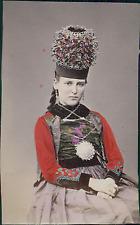 Suisse, Costume Femme du Canton de Fribourg  Vintage albumin print Tirage