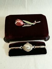 Bulova Vintage Ladies 10K Rolled Gold Plate Mechanical watch with original box.