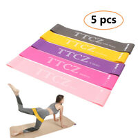 5PC/SET Resistance Bands Tube Workout Exercise Elastic Bands Fitness Yoga Pilate