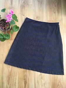 SEASALT Recital Pretty Tile French Navy Knee Skirt A-Line RRP £49.95 UK 12 14