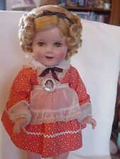 IDEAL VINTAGE COMPOSITION SHIRLEY TEMPLE DOLL IN RARE, MINT TAGGED LITTLE REBEL