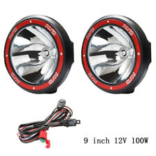 """9"""" HID SPOTLIGHT 100W SET NEW OFFROAD OVERLAND 4X4 FREE SHIPPING"""