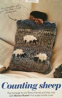 Chunky Animal Toy Hot Water Bottle Cover Knitting Pattern Sheep//Mouse//Owl