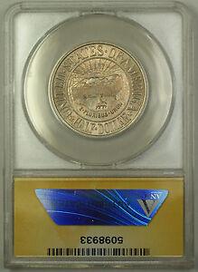 1936 York Commem Silver Half Dollar ANACS MS-60 Details Clnd Toned (Better Coin)