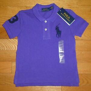 Polo Ralph Lauren Baby Boys Short Sleeve Shirt Big Pony Toddler 2T 3T NWT