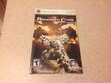 (NO GAME) Armored Core: For Answer Xbox 360 Instruction Book Manual
