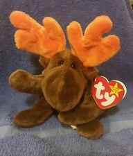 TY Beanie Babies The Original Chocolate The Moose, PE Pellets, 1993, SUPER RARE!