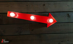 Small 2' Ft Retro American Arrow Sign Garage Gas Monkey Style Workshop Home