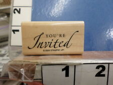You're invited saying  STAMPIN UP!  RUBBER STAMP 6I